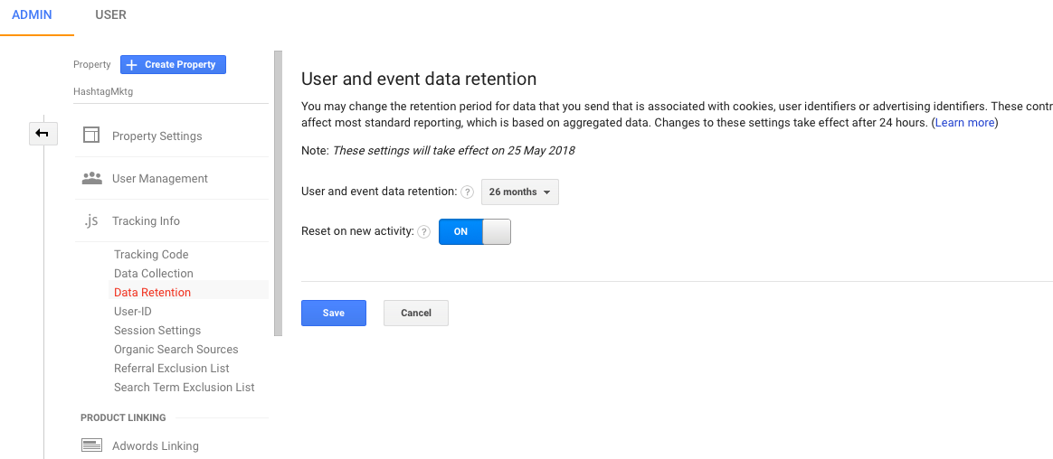 Google data retention